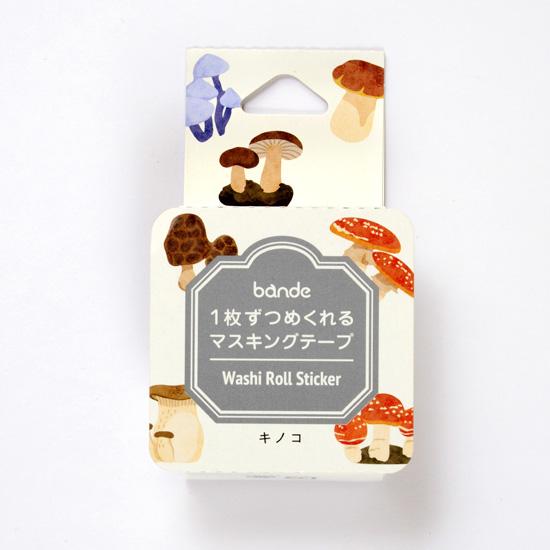bande マスキングロールステッカー キノコ(BDA 305)【ネコポスOK】