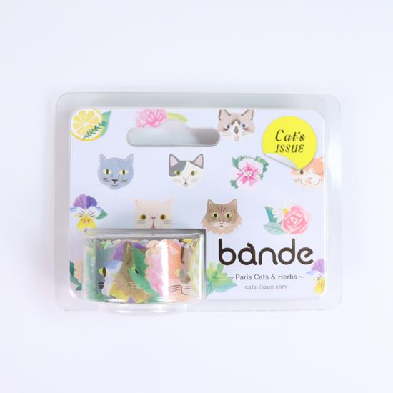 bande マスキングロールステッカー Paris cats&Herbs(BDA 314)【宅急便配送】