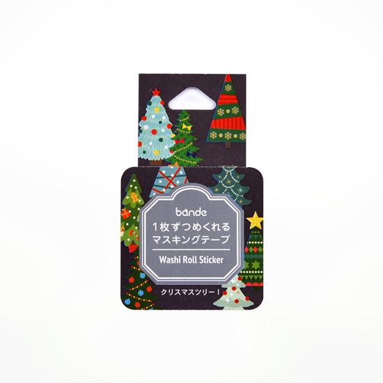 bande マスキングロールステッカー クリスマスツリー1(BDA497)【ネコポスOK】
