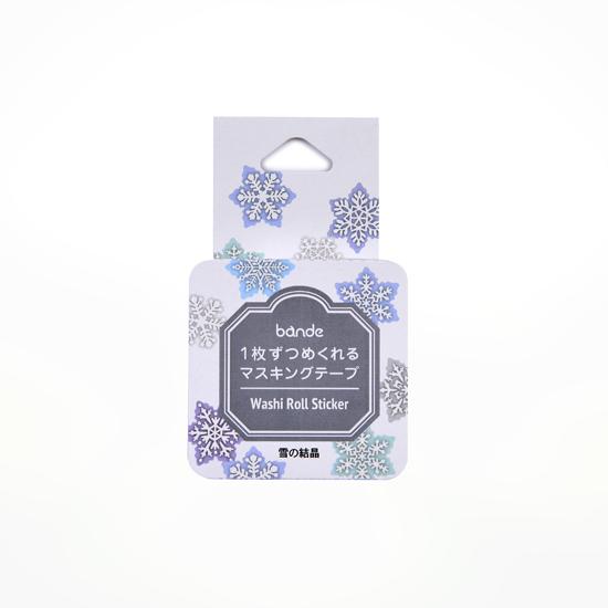 bande マスキングロールステッカー 雪の結晶(BDA499)【ネコポスOK】