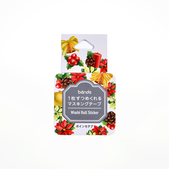 bande マスキングロールステッカー ポインセチア(BDA502)【ネコポスOK】