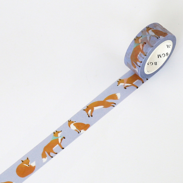 BGMマスキングテープ Life 15mm キツネ(BM-LA023)【ネコポスOK】