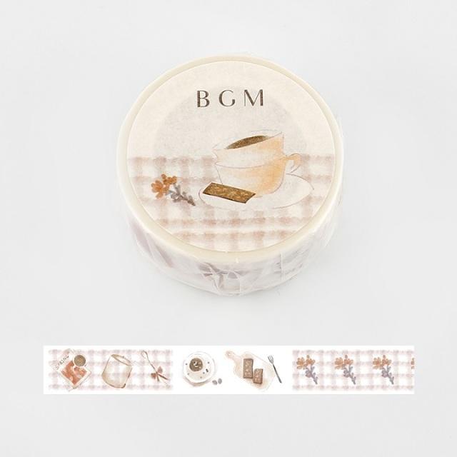 BGMマスキングテープ Life 15mm コーヒーチョコ(BM-LA047)【ネコポスOK】