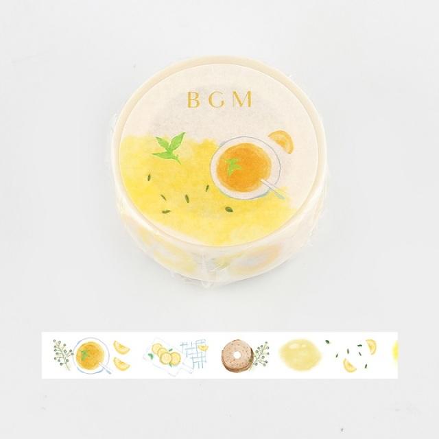 BGMマスキングテープ Life 15mm レモンミント(BM-LA048)【ネコポスOK】
