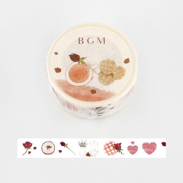 BGMマスキングテープ Life 15mm ローズティー(BM-LA049)【ネコポスOK】