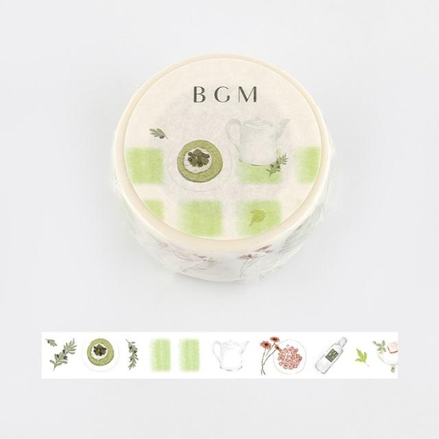 BGMマスキングテープ Life 15mm マッチャアズキ(BM-LA051)【ネコポスOK】
