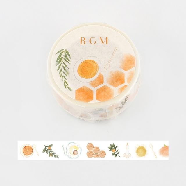BGMマスキングテープ Life 15mm ハニーオレンジ(BM-LA053)【ネコポスOK】
