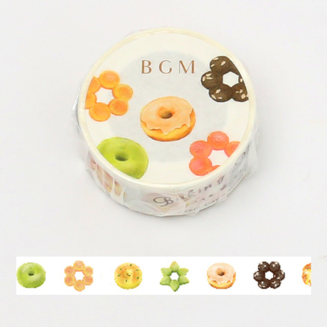 《ご予約商品・18日より順次発送》BGMマスキングテープ 15mm ドーナツ(BM-LA054)【ネコポスOK】