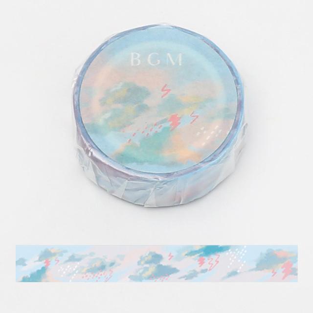 《ご予約商品・18日より順次発送》BGMマスキングテープ 15mm 雨雲(BM-LA056)【ネコポスOK】