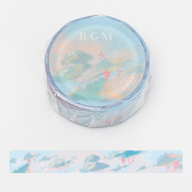 BGMマスキングテープ 15mm 雨雲(BM-LA056)【ネコポスOK】