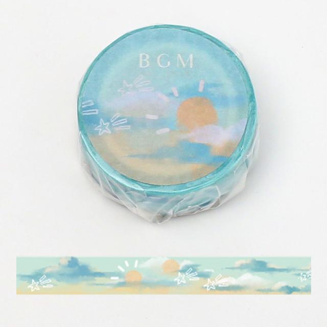 《ご予約商品・18日より順次発送》BGMマスキングテープ 15mm 晴れ(BM-LA057)【ネコポスOK】