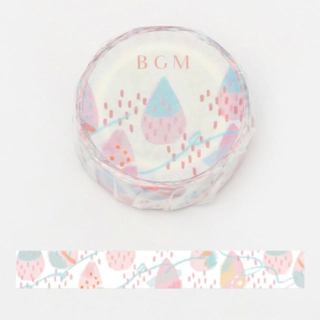 BGMマスキングテープ 15mm しずく(BM-LA058)【ネコポスOK】