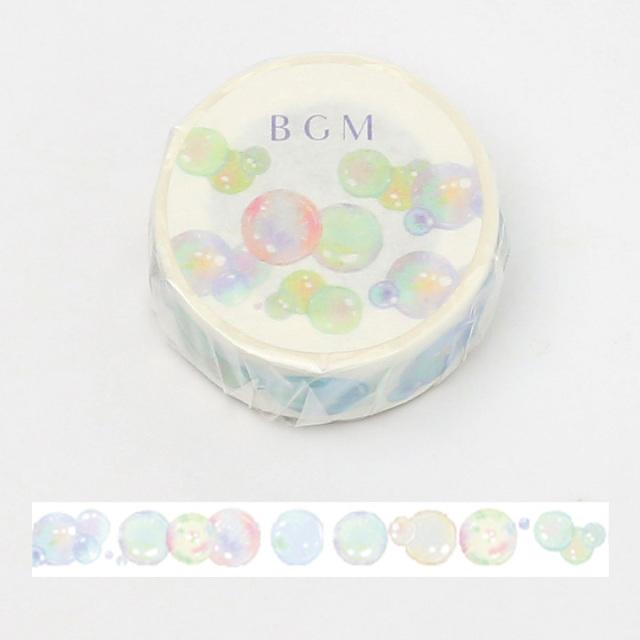 BGMマスキングテープ 15mm しゃぼん玉(BM-LA059)【ネコポスOK】