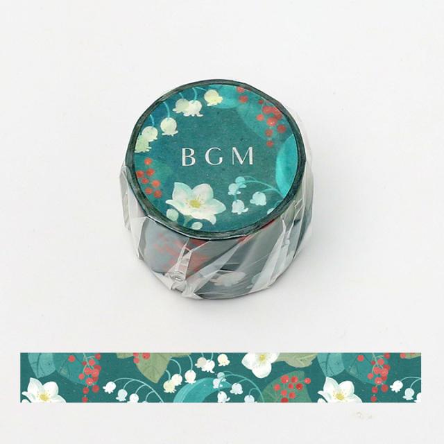 BGMマスキングテープ 30mm スズラン(BM-LB019)【宅急便配送】