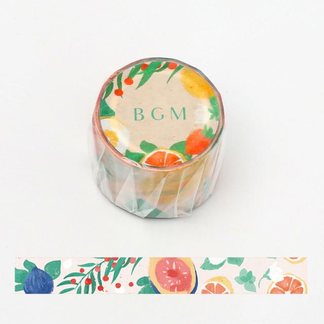BGMマスキングテープ 30mm イチジク(BM-LB020)【宅急便配送】