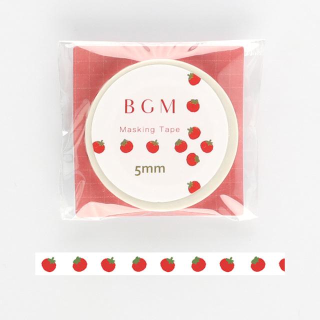BGMマスキングテープ Life トマト(BM-LS026)【ネコポスOK】
