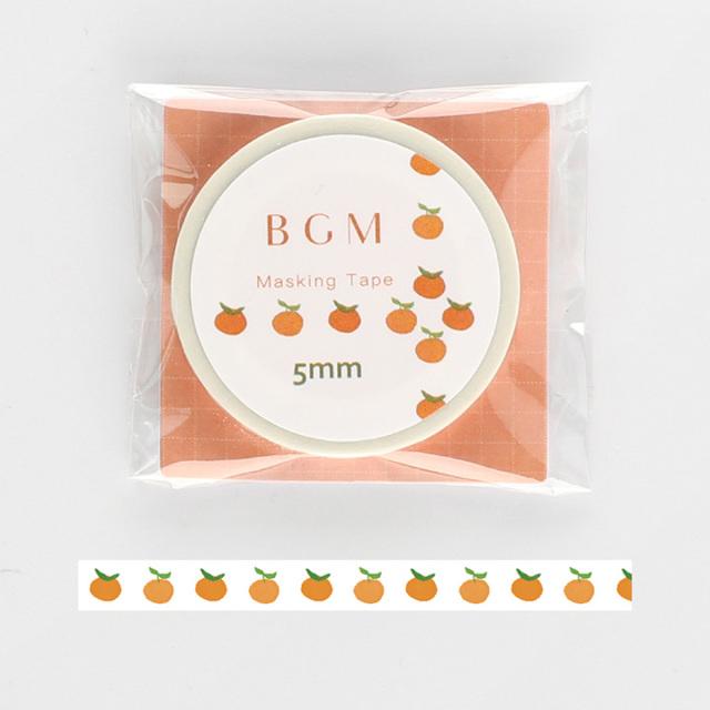 《2019夏 新作 ご予約商品》BGMマスキングテープ Life ミカン(BM-LS027)【ネコポスOK】