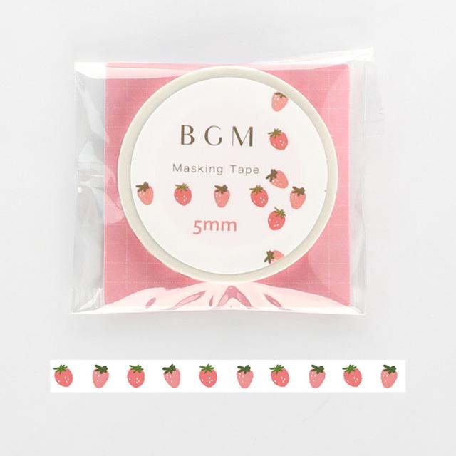 《2019夏 新作 ご予約商品》BGMマスキングテープ Life ピンクいちご(BM-LS028)【ネコポスOK】