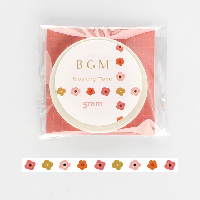 《2019夏 新作 ご予約商品》BGMマスキングテープ Life ちいさな花(BM-LS029)【ネコポスOK】