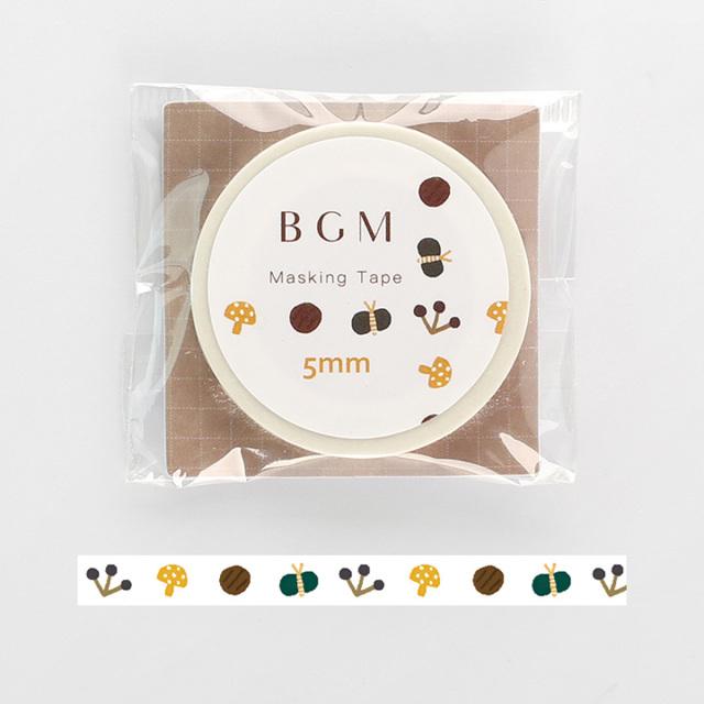 《2019夏 新作 ご予約商品》BGMマスキングテープ Life 野草(BM-LS030)【ネコポスOK】