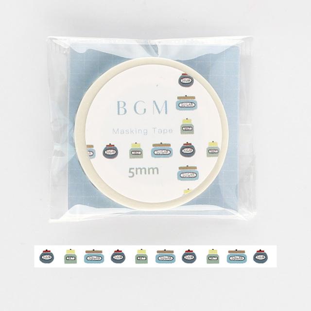 《2019夏 新作 ご予約商品》BGMマスキングテープ Life 瓶(BM-LS031)【ネコポスOK】