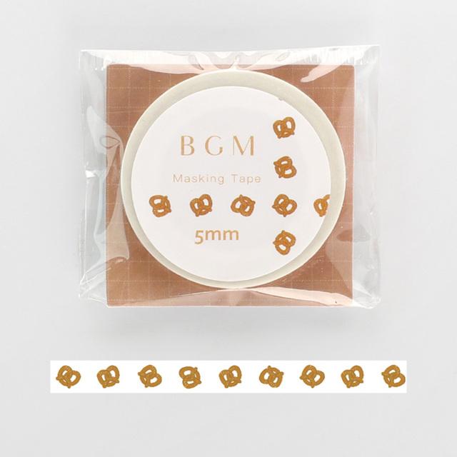 《2019夏 新作 ご予約商品》BGMマスキングテープ Life プレッツェル(BM-LS033)【ネコポスOK】