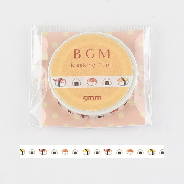 BGMマスキングテープ Life お寿司(BM-LS037)【ネコポスOK】