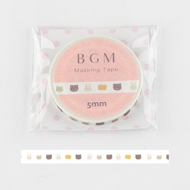 BGMマスキングテープ Life アニマルクッキー(BM-LS038)【ネコポスOK】