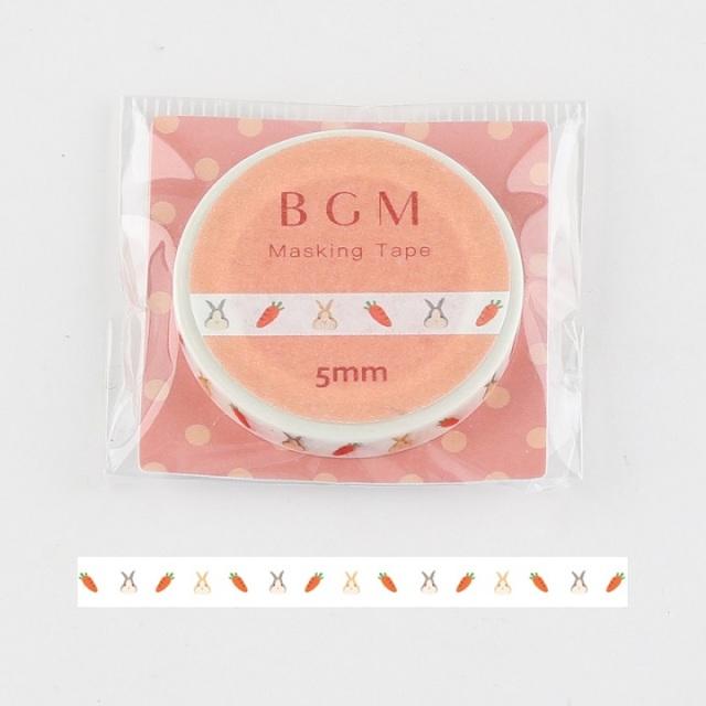 BGMマスキングテープ Life うさぎと人参(BM-LS039)【ネコポスOK】