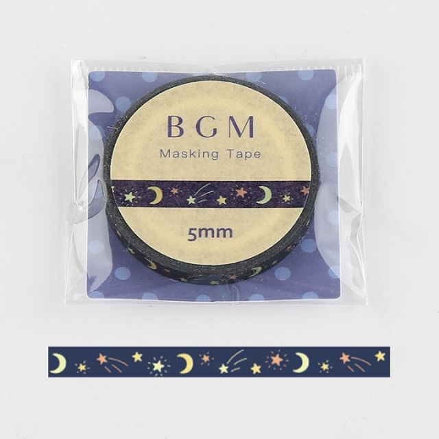 BGMマスキングテープ Life 星月夜(BM-LS044)【ネコポスOK】