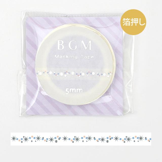 BGMマスキングテープ 箔押し5mm きらきら星(BM-LSG036)【ネコポスOK】
