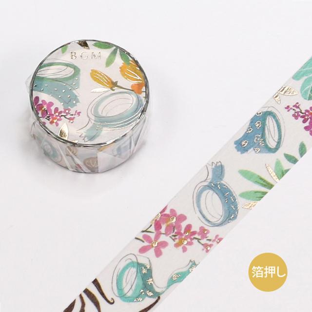 BGMマスキングテープ スペシャル 箔押し 文具女子 マスキングテープ(BM-SPJB004)【ネコポスOK】