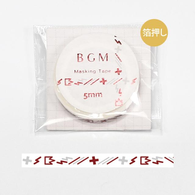 BGMマスキングテープ スペシャル 箔押し 記号 イナズマ・赤(BM-SPKG009)【ネコポスOK】