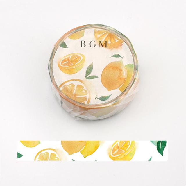 《2019夏 数量限定品 ご予約商品》BGMマスキングテープ サマーレモン(BM-SPLN002)【ネコポスOK】