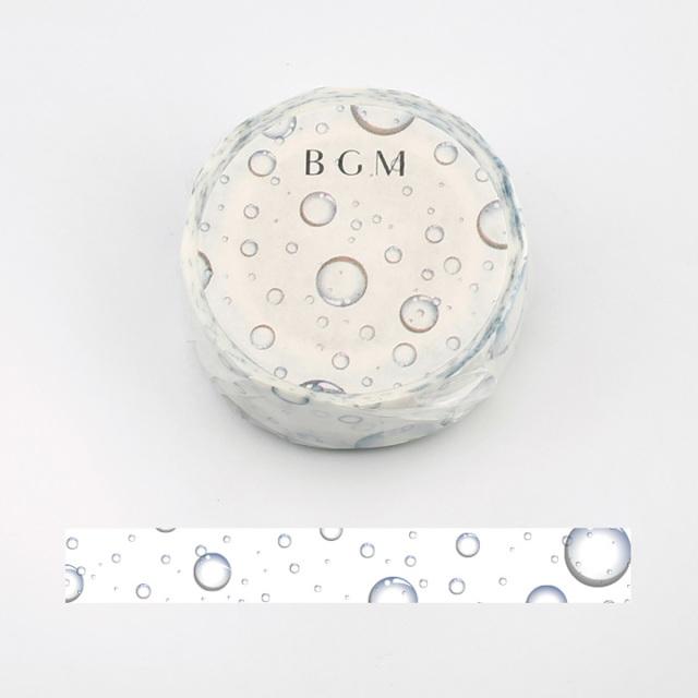 《2019夏 数量限定品 ご予約商品》BGMマスキングテープ 水滴(BM-SPLN004)【ネコポスOK】
