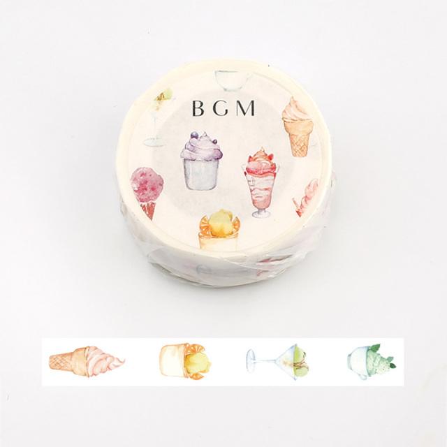 《2019夏 数量限定品 ご予約商品》BGMマスキングテープ アイスクリーム(BM-SPLN003)【ネコポスOK】