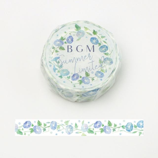 【夏限定2020】BGMマスキングテープ 15mm 夏・アサガオ(BM-SPLN011)【ネコポスOK】