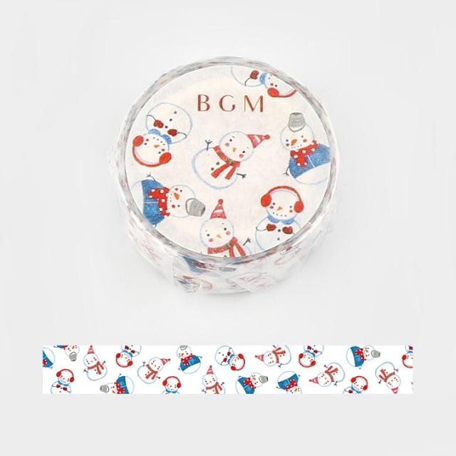 BGMマスキングテープ 雪だるま(BM-SPLW001)【ネコポスOK】