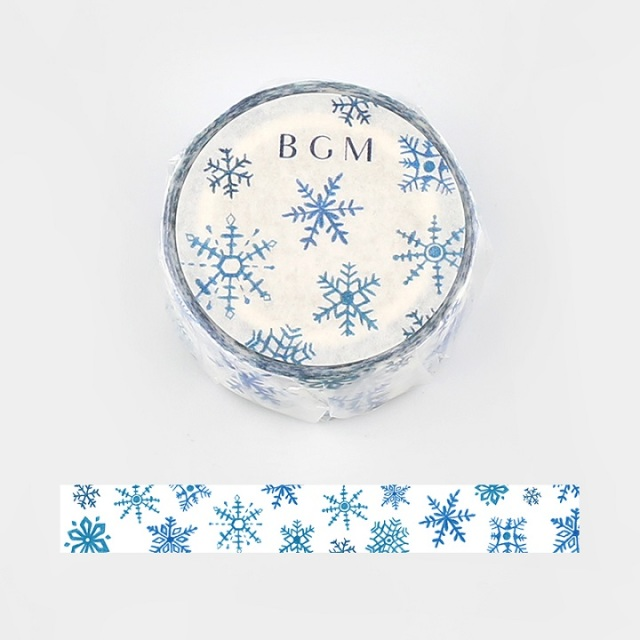 BGMマスキングテープ 雪(BM-SPLW002)【ネコポスOK】