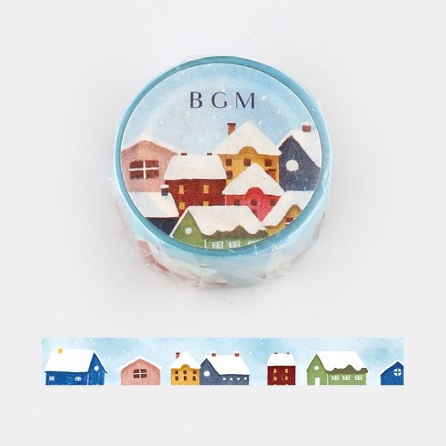 BGMマスキングテープ 雪の町(BM-SPLW004)【ネコポスOK】