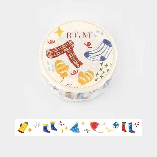 BGMマスキングテープ あったか冬小物(BM-SPLW006)【ネコポスOK】