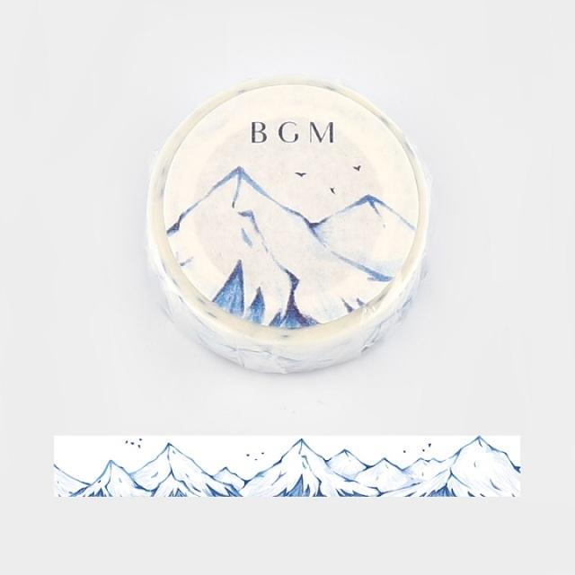 BGMマスキングテープ 雪山(BM-SPLW008)【ネコポスOK】