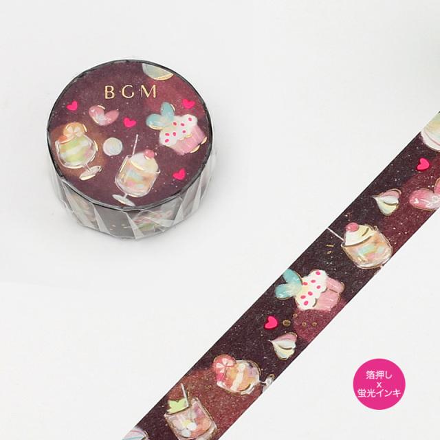 BGMマスキングテープ 箔押し15mm 甘い夢(BM-SPND004)【ネコポスOK】