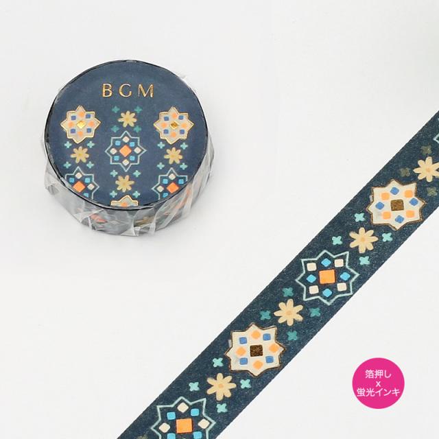 BGMマスキングテープ 箔押し15mm 万華鏡(BM-SPND007)【ネコポスOK】