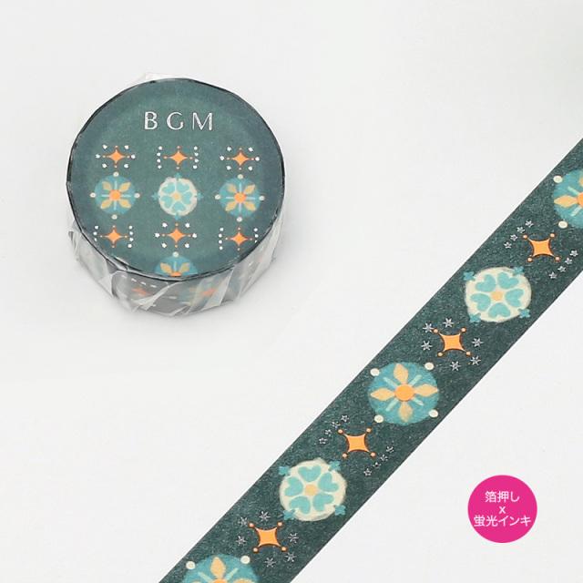 BGMマスキングテープ 箔押し15mm 蛍草(BM-SPND008)【ネコポスOK】