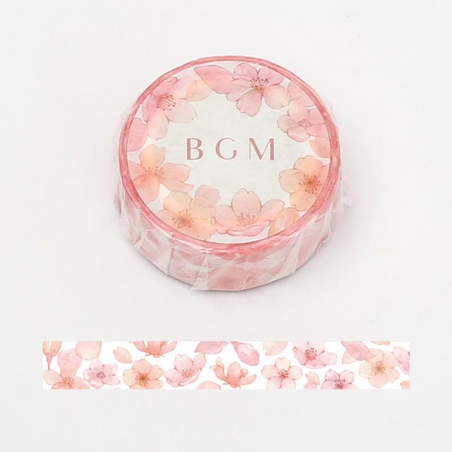 《ご予約商品・18日より順次発送》BGMマスキングテープ 15mm 花桜(BM-SPSA010)【ネコポスOK】