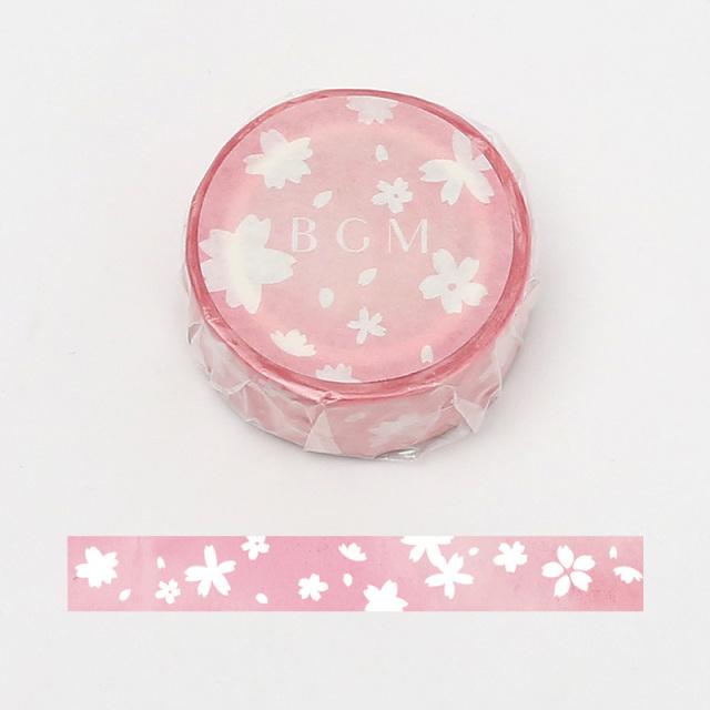 《ご予約商品・18日より順次発送》BGMマスキングテープ 15mm 雪桜(BM-SPSA011)【ネコポスOK】