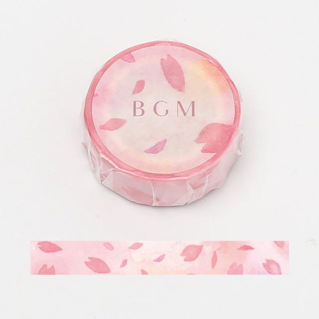 BGMマスキングテープ 15mm 飛花(BM-SPSA012)【ネコポスOK】