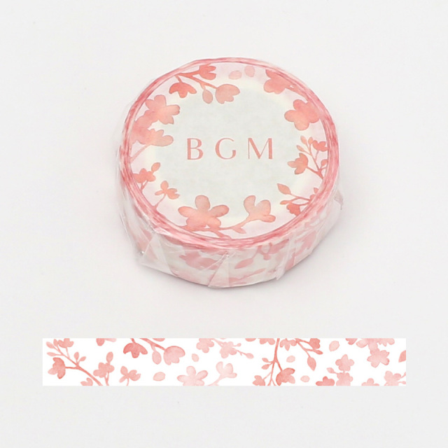 BGMマスキングテープ 15mm 徒桜(BM-SPSA013)【ネコポスOK】