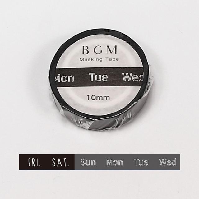 BGMマスキングテープ スペシャル ツカイ 日々・曜日(BM-SPT015)【ネコポスOK】